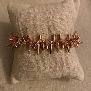 Stella & Dot Renegade Cluster Bracelet Rose Gold